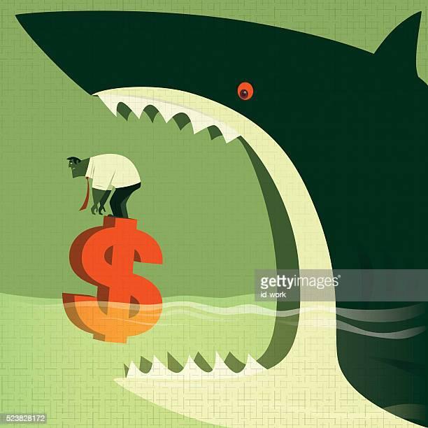 illustrations, cliparts, dessins animés et icônes de attaque grand requin - requin