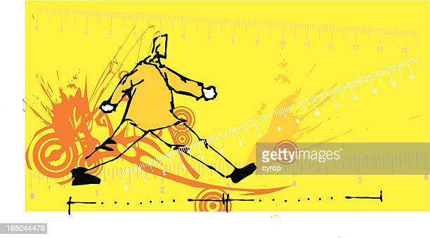 big step - inch stock illustrations