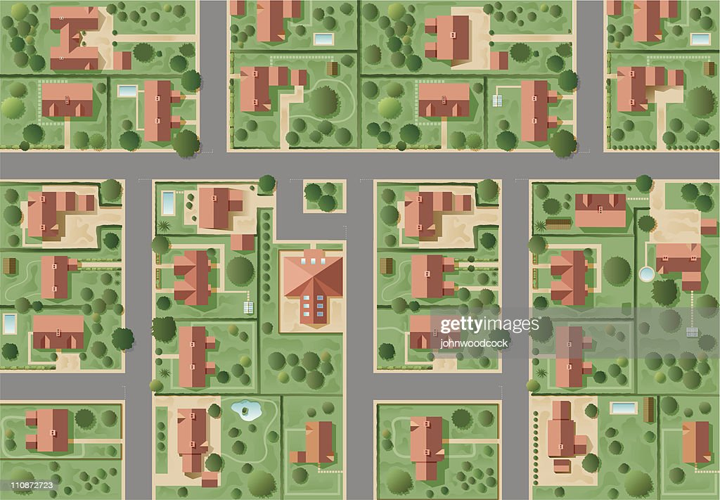 Big suburb : stock illustration
