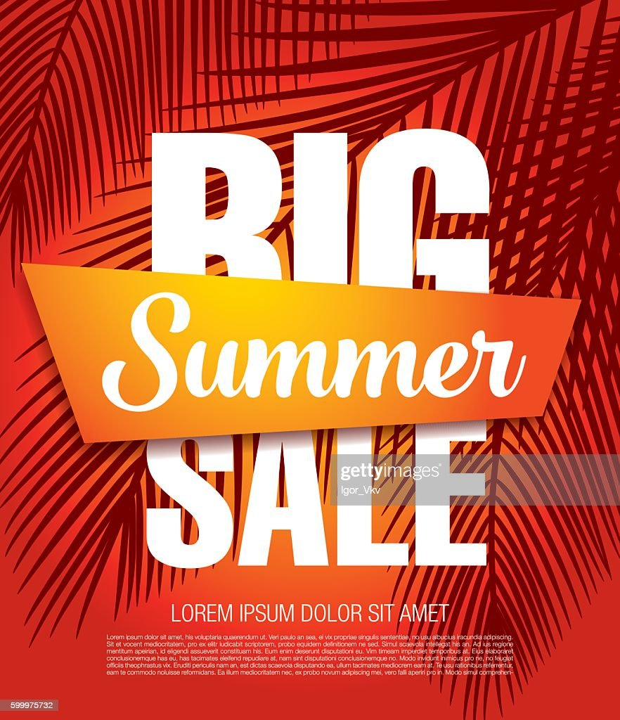 Big summer sale banner