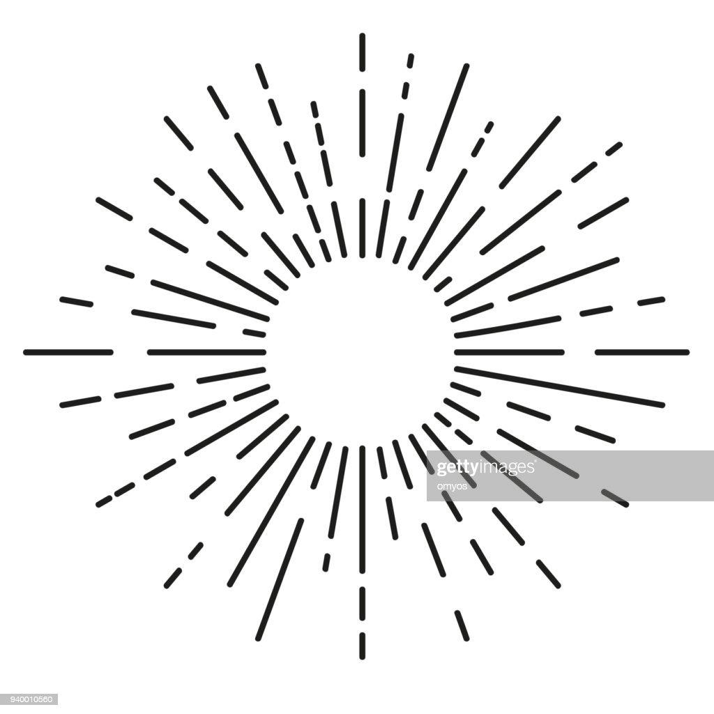 Big Sunburst, rounded corner