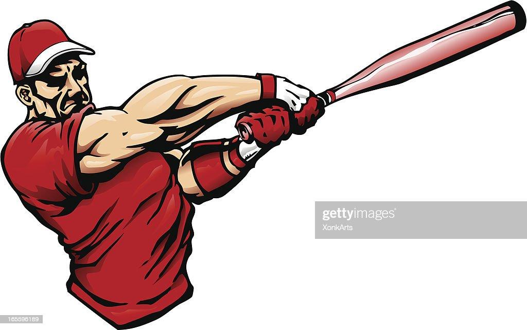 big swing vector art getty images rh gettyimages com Baseball Bat and Ball Clip Art Baseball Bat Clip Art
