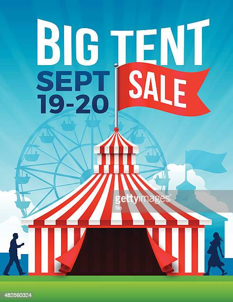 big tent sale - tent stock illustrations, clip art, cartoons, & icons