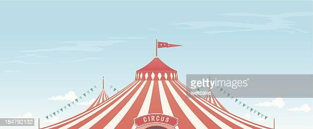 ilustraciones, imágenes clip art, dibujos animados e iconos de stock de el gran fondo - carpa de circo