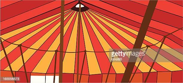 ilustraciones, imágenes clip art, dibujos animados e iconos de stock de el gran interior - carpa de circo