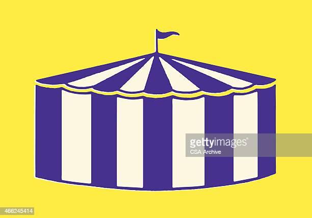 illustrations, cliparts, dessins animés et icônes de big dernier tente - chapiteau de cirque