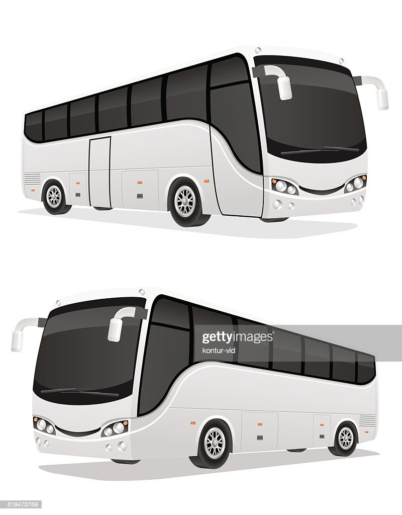 big tour bus vector illustration