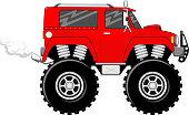 big wheels red monstertruck