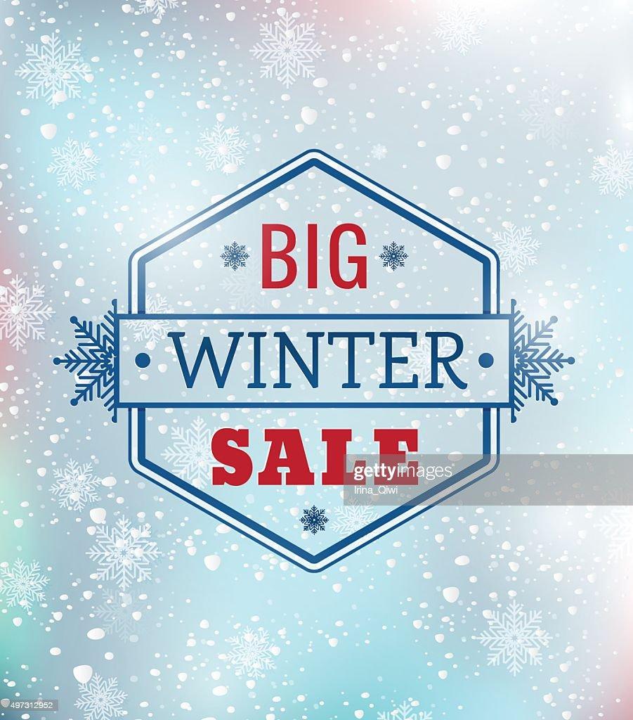 Big Winter sale typography poster - Illustration