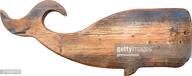 big wooden whale illustration. - whales stock illustrations, clip art, cartoons, & icons