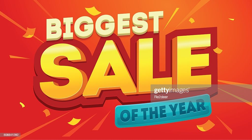 Biggest sale banner