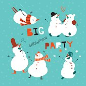 Big-party-Card-or-flyer-for-your-holiday-with-dancing-fun-snowmen