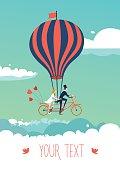 Bike above the clouds