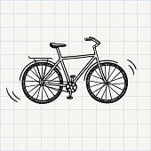 Bike doodle icon