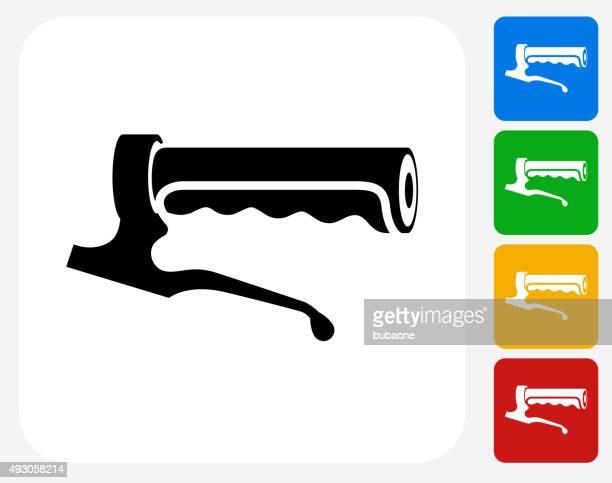 bike handle icon flat graphic design - film crew stock illustrations