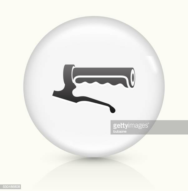 bike handle icon on white round vector button - handle stock illustrations, clip art, cartoons, & icons