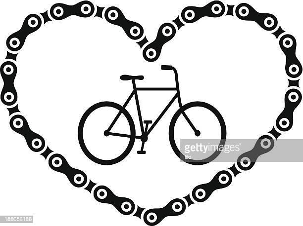ilustraciones, imágenes clip art, dibujos animados e iconos de stock de pasión por la bici - cadena