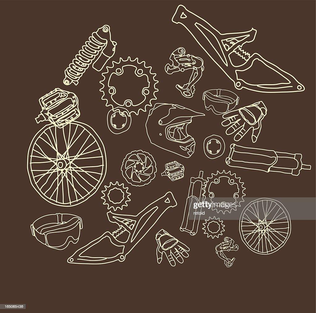 Bike Parts Vector Art Getty Images
