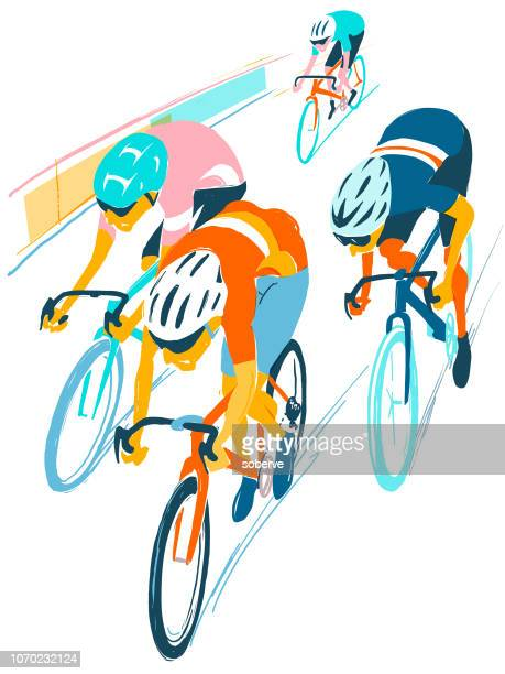 bike race - competitive sport stock illustrations, clip art, cartoons, & icons