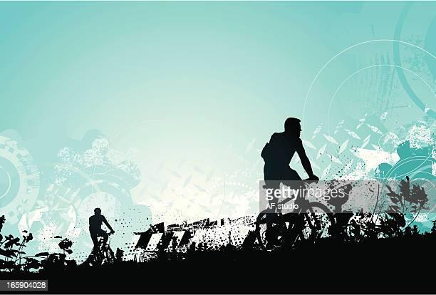ilustrações de stock, clip art, desenhos animados e ícones de corrida de bicicleta - mountain bike