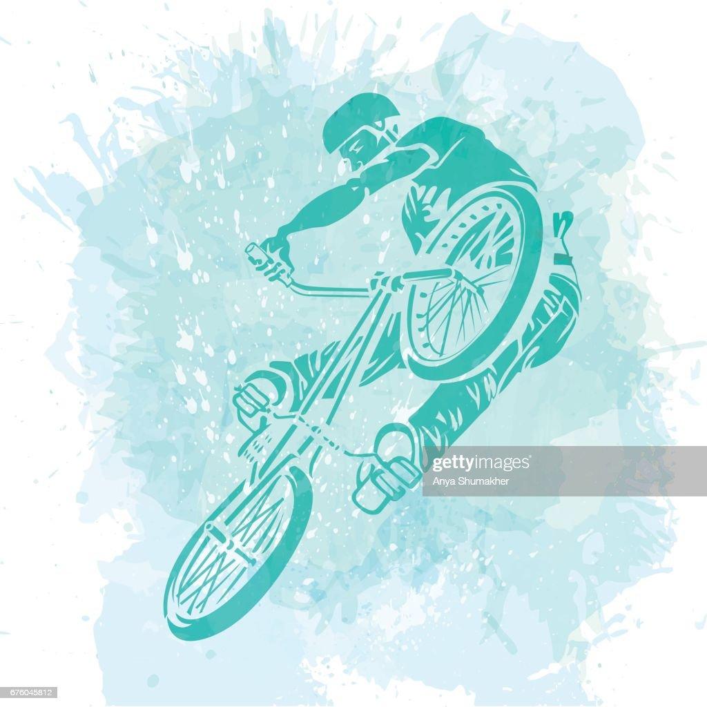Bike Rider Jumping