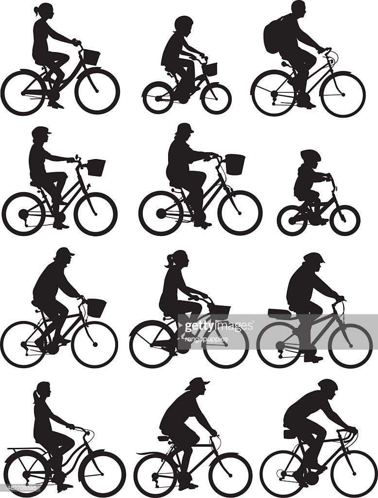 Rennradfahrer : Stock-Illustration