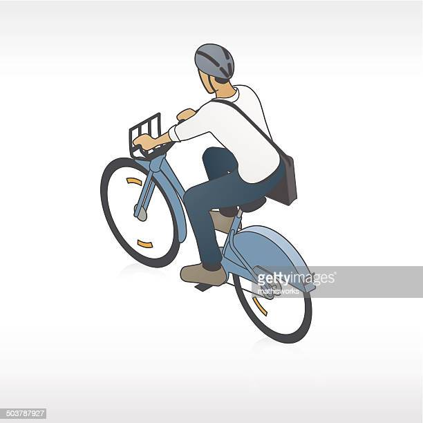 bike share radfahrer illustration - mathisworks stock-grafiken, -clipart, -cartoons und -symbole
