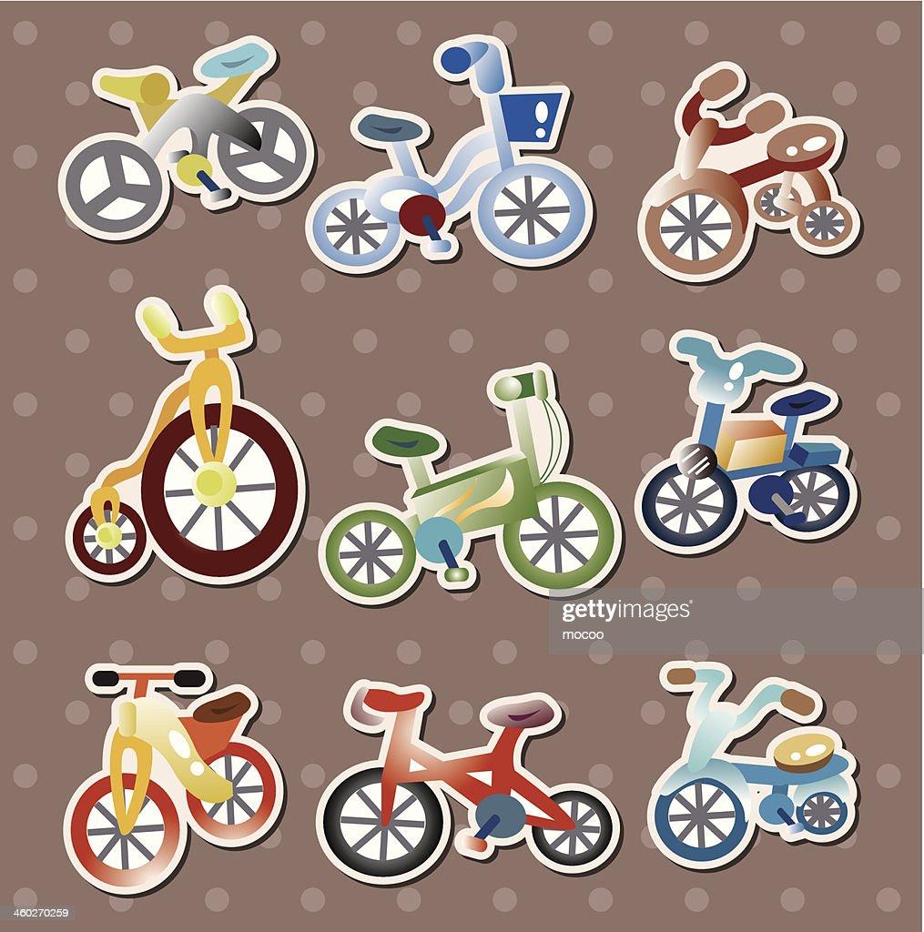 Autocollants de vélo clipart vectoriel