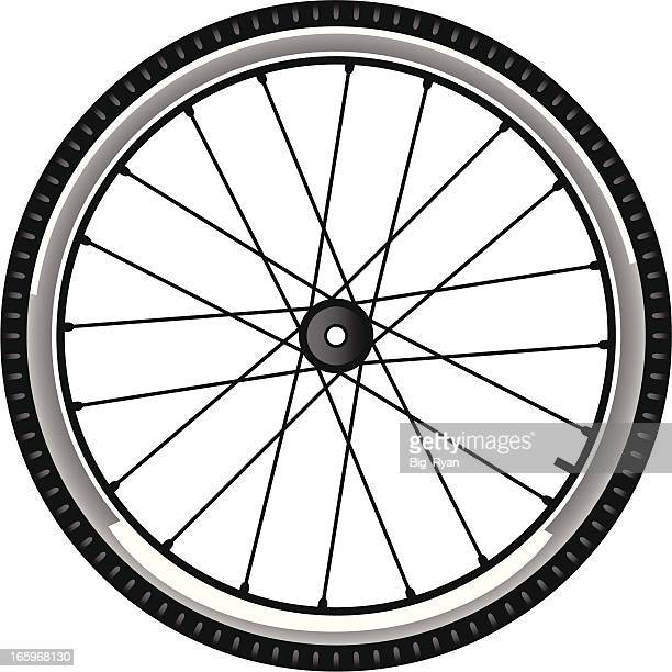 bike tire - wheel stock illustrations, clip art, cartoons, & icons