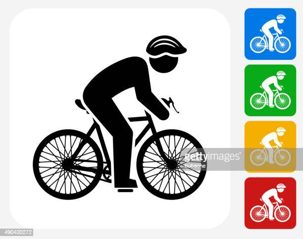 biker icon flat graphic design - motorcycle helmet stock illustrations, clip art, cartoons, & icons
