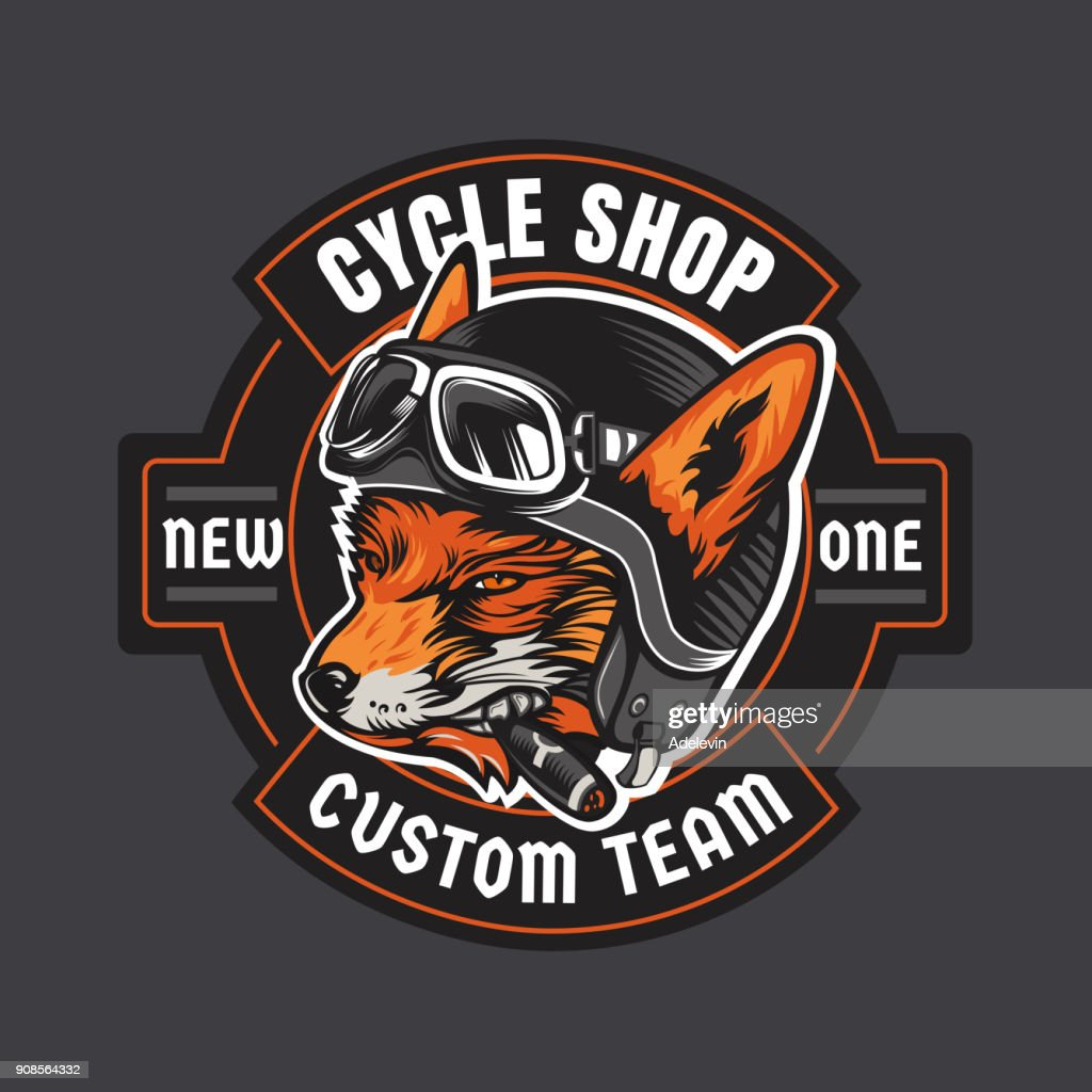 Biker moto emblem : stock illustration