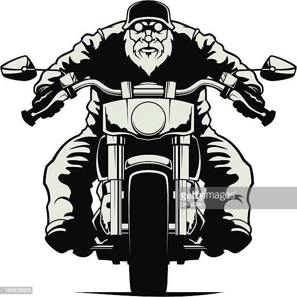 biker - motorcycle rider stock illustrations, clip art, cartoons, & icons