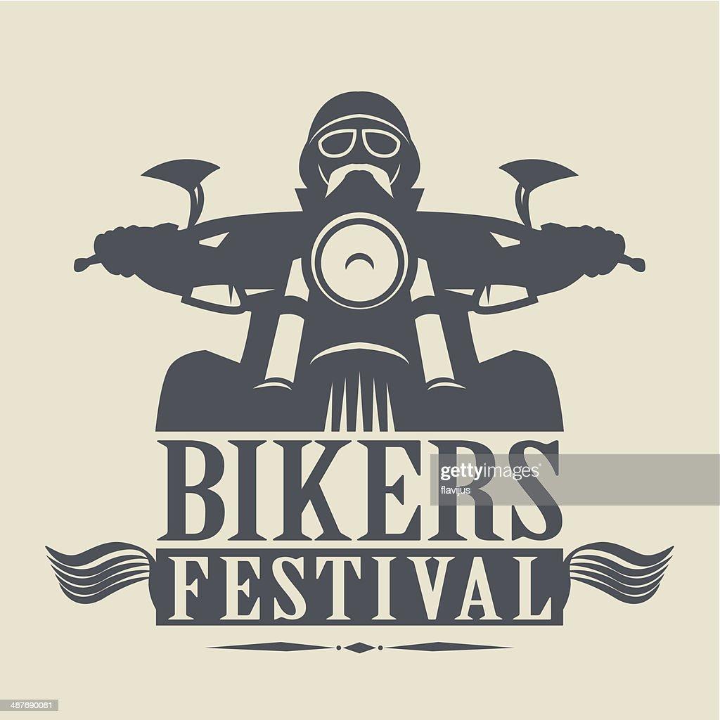 Bikers Festival label