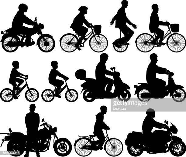 bikes - motorcycle rider stock illustrations, clip art, cartoons, & icons
