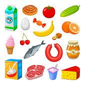 Bild på olika mat