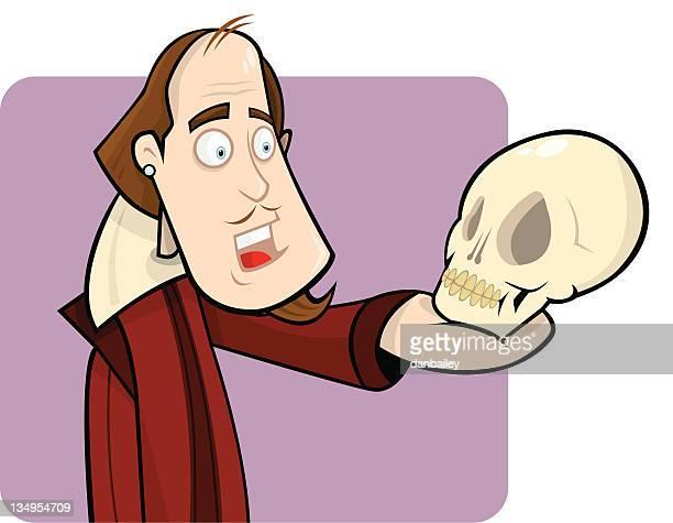 bill shakespeare - william shakespeare stock illustrations, clip art, cartoons, & icons