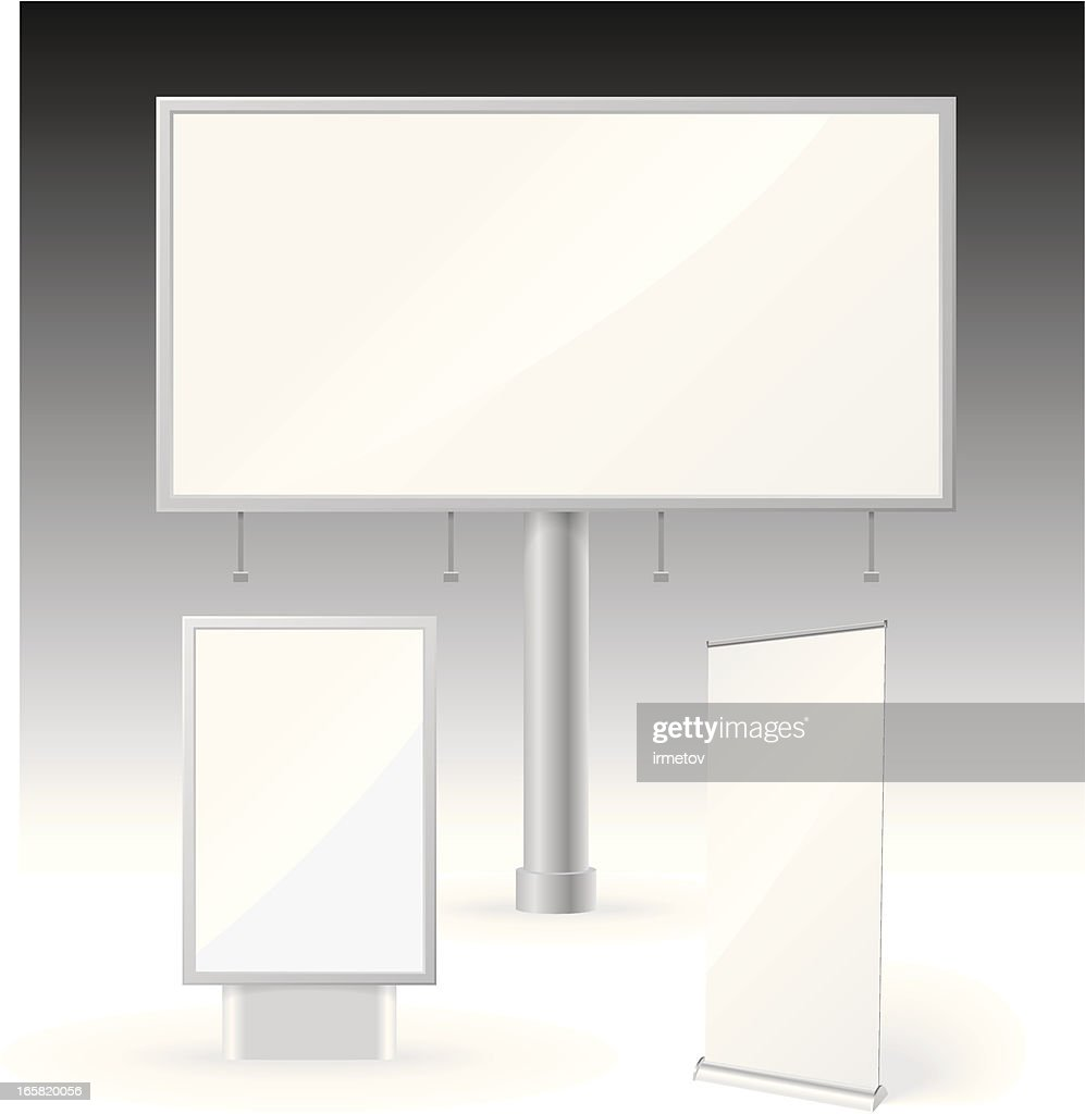 Billboard And Banner Template Vector Art Getty Images