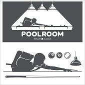 Billiard and pool vector set.