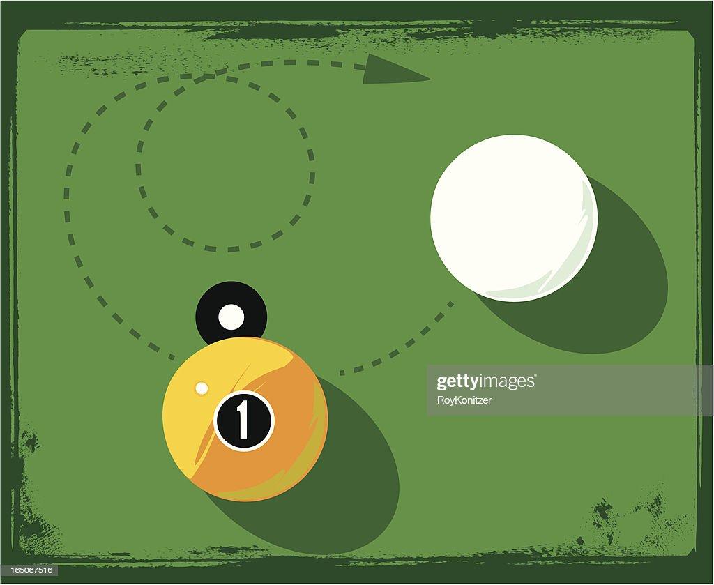 Billiard Balls and grunge frame