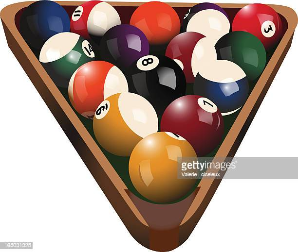 billiard balls (eps) - pool ball stock illustrations, clip art, cartoons, & icons