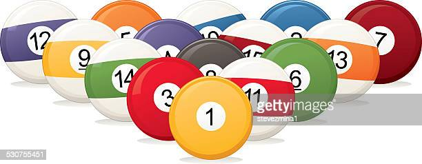 billiard balls - pool ball stock illustrations, clip art, cartoons, & icons