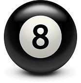 billiard black eight