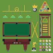 Billiards Flat Set