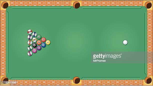 billiards or pool table - pool ball stock illustrations