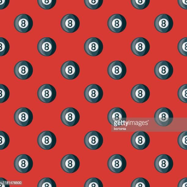 billiards pub pattern - pool ball stock illustrations