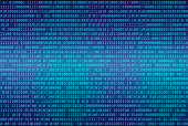 Binary code abstract background, Digital communication code.