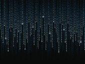 Binary code pattern on black background