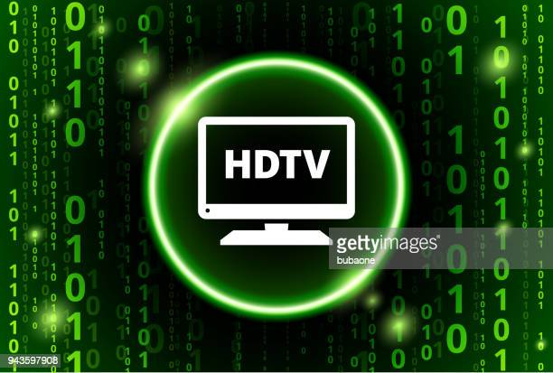 HD TV Binary Code Vector Pattern Background