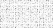 Binary matrix code. Computer data stream, digital security codes and gray coding information abstract vector background