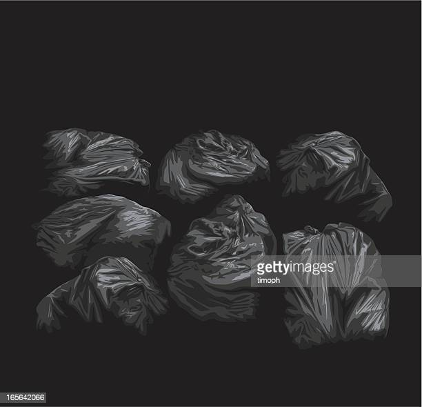 binbags - bin bag stock illustrations